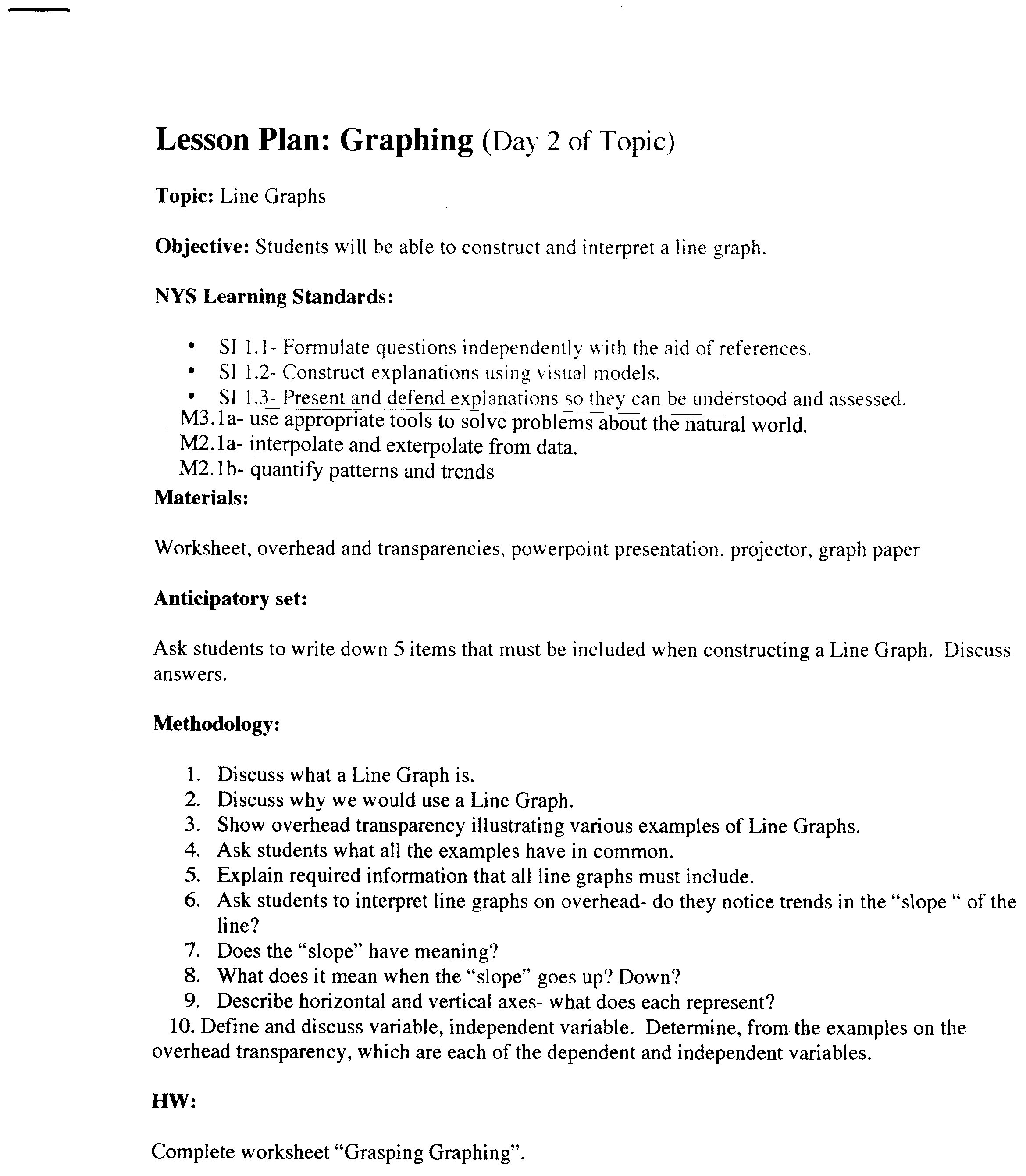 worksheet Interpreting Line Graphs Worksheet science skills line graphs worksheet